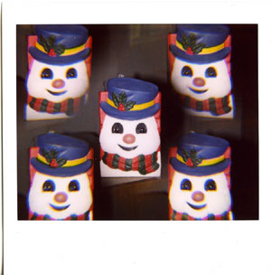 Snowman utensil holder times five