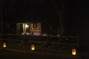 The house with luminaries in front