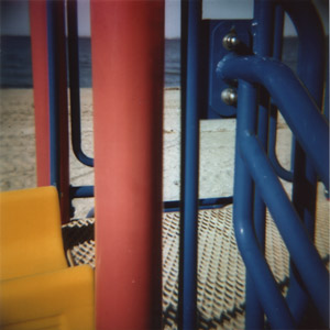 Jungle Gym at the beach, close up